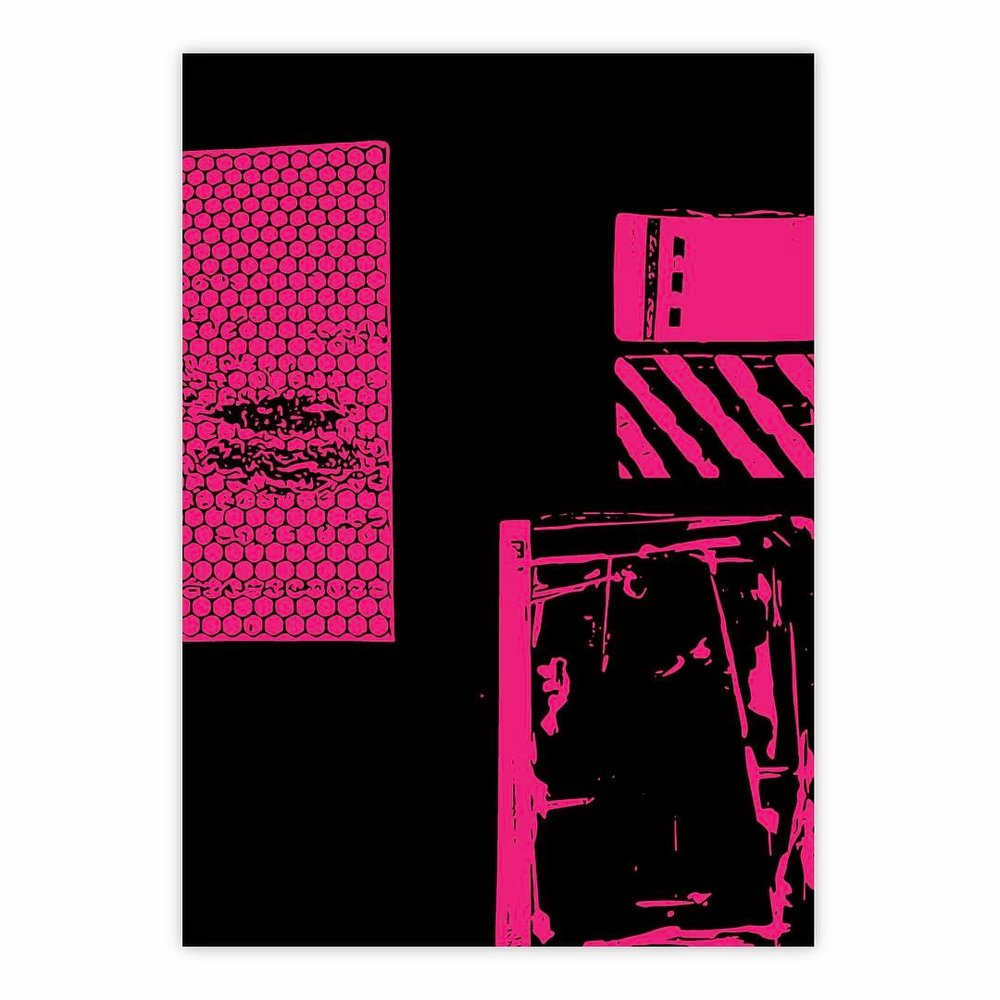 ——————•       #art #artwork #foundobject #instaart #black #pink #construction #abstractart #abstraction #monochrome #minimalism