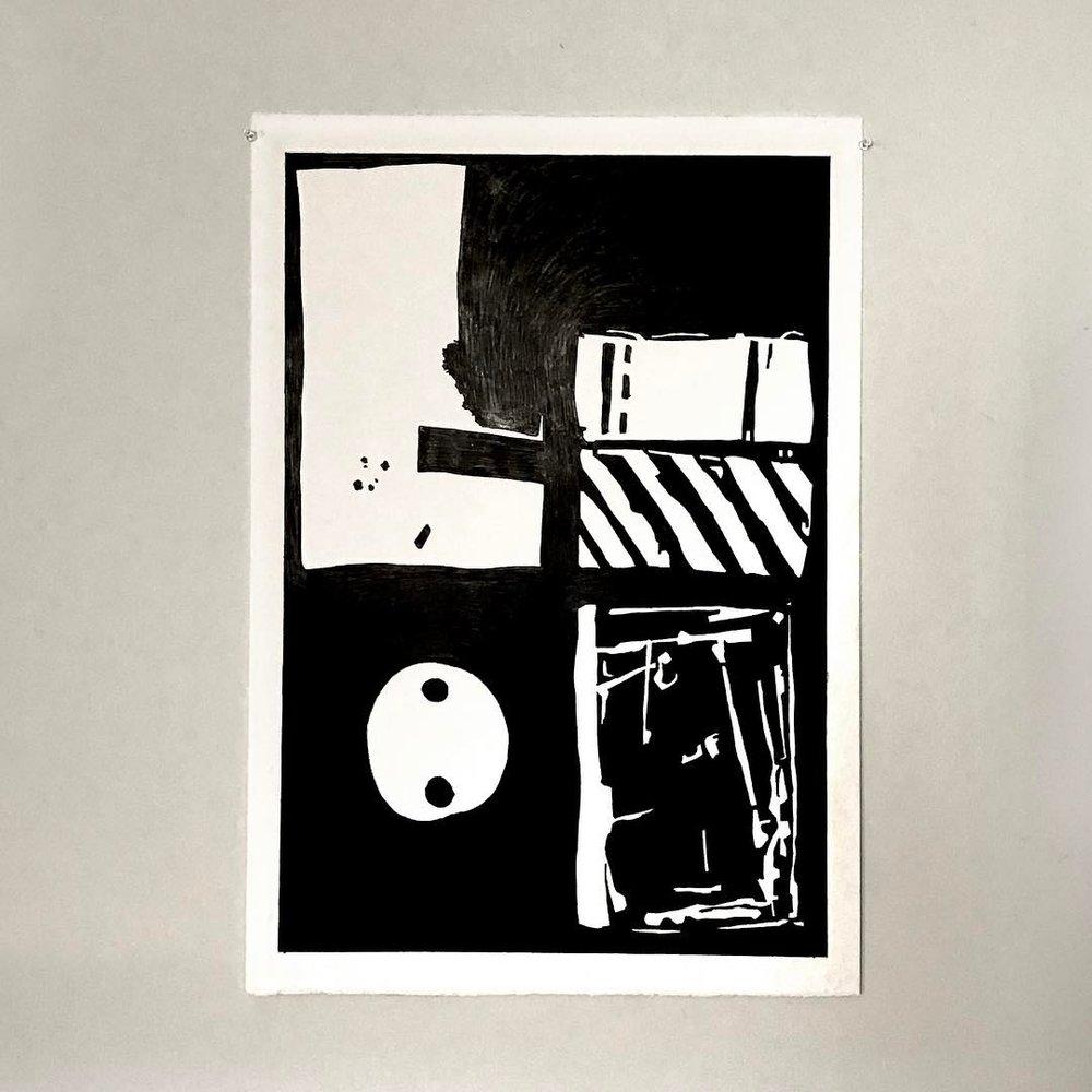 ——————• #art #artwork #foundobject #instaart #black  #construction #abstractart #abstraction #monochrome #minimalism #drawing #pencil #paper #workinprogress