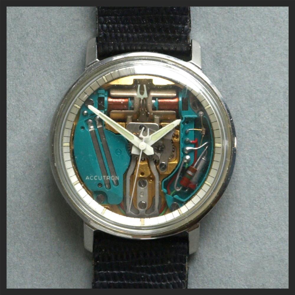 The Bulova Accutron Spaceview, still cool today                 Source:   Wikipedia.com