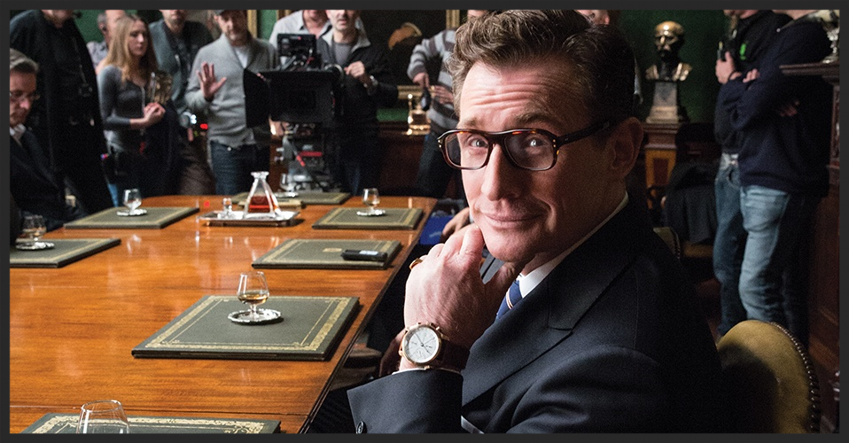 Bremont Co-founder Nick English has a small cameo as one of the Kingsman, seen here wearing the Bremont Kingsman Limited Edition in Rose Gold. © Bremont Ltd