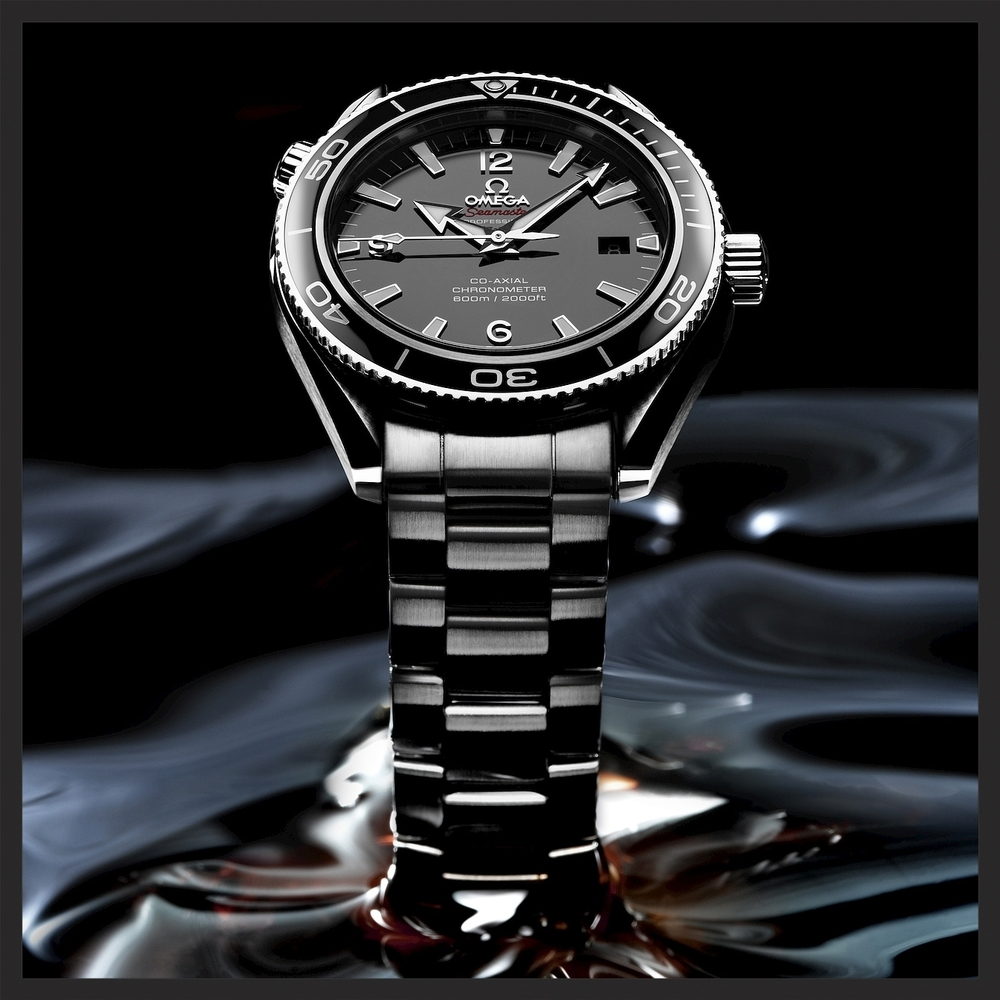 The Omega Seamaster Planet Ocean Liquid Metal Limited Edition, Ref  222.30.42.20.01.001.   © OMEGA Ltd