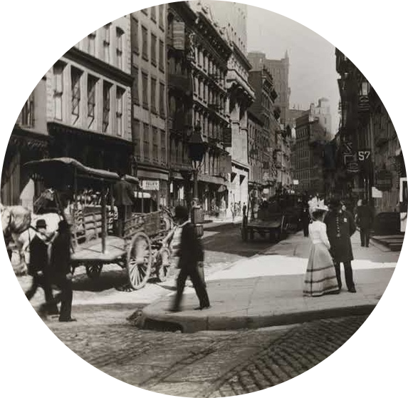 New York's Maiden Lane circa 1890