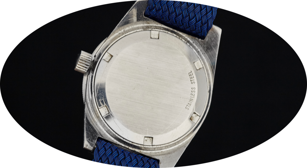 Some small scratches that don't detract from the appeal of this watch. Photo courtesy of Analog/Shift.