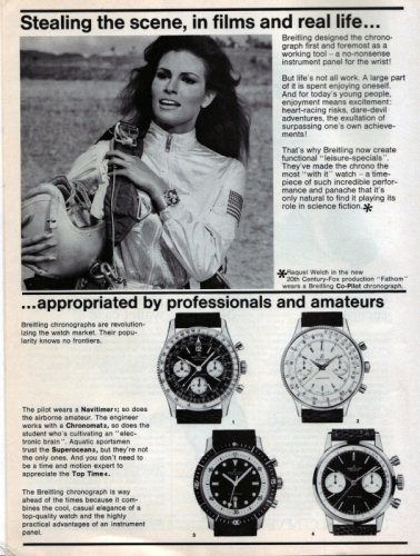 Original advertisement for Breitling