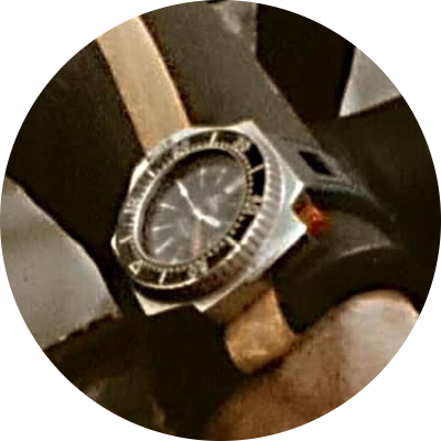 The Omega PloProf on a Cousteau diver
