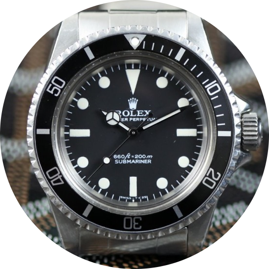 Rolex Ref. 5514 with standard submariner dial replacement.