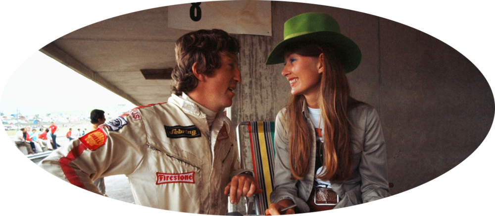 Nina Rindt with husband Jochen Rindt.