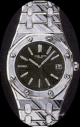 Genta's early design of the Royal Oak.