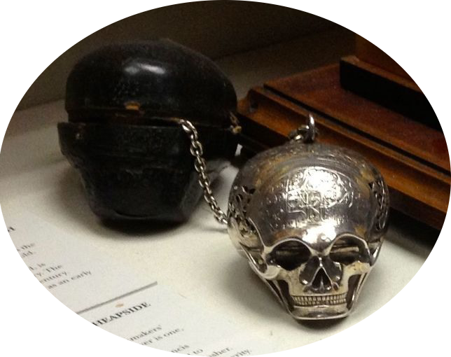 Where the supposed Death's Head watch of Mary Queen of Scots currently resides in the Clockmakers' Museum.