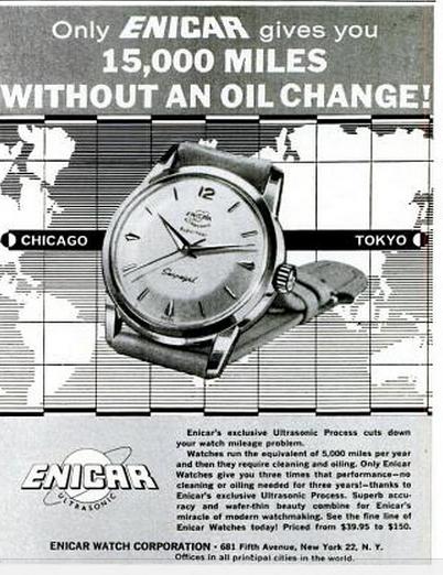 Enicar Unltrasonic LIFE advert 1957.png