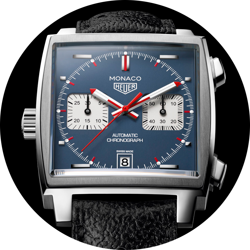 TAG Heuer Monaco Calibre 11, Ref. CAW2110.FC6356. Photo courtesy of TAG Heuer.