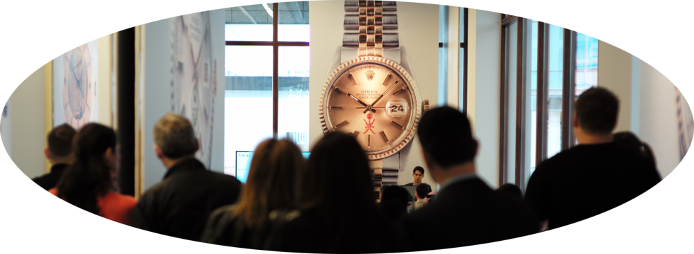The scene at the Watches of Knightsbridge Dubai Auction. Image courtesy of Watches of Knightsbridge.