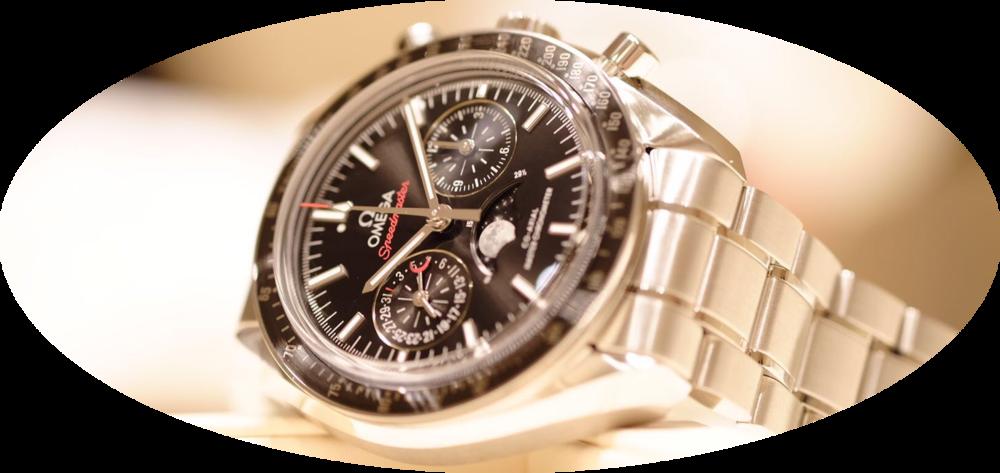 The Omega Speedmaster Master Chronometer Moonphase Chronograph in steel. Image courtesy of Kristian Haagen.
