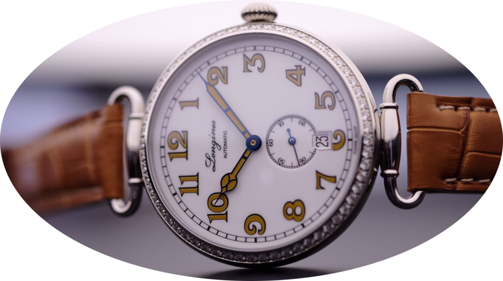 The slightly smaller Ladies Heritage 1918 with diamond bezel. Image courtesy of Kristian Haagen.