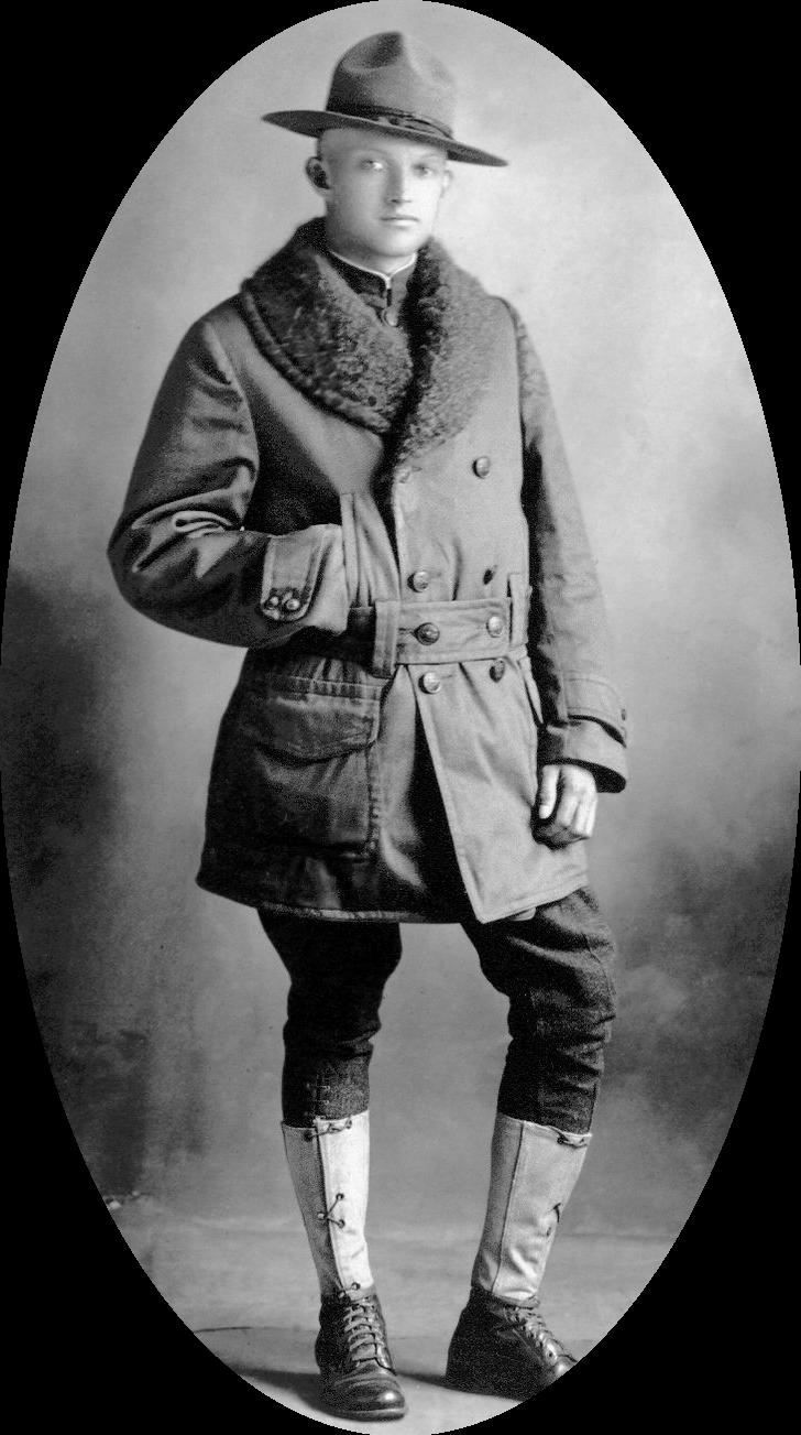 Photograph of a 1918 'doughboy'.