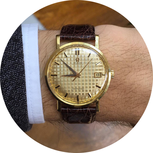 Omega Seamaster with 'Waffle dial'