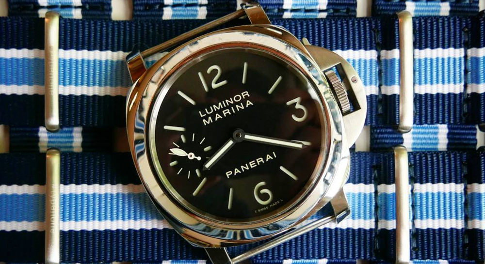 A gorgeous Panerai Luminor on top of several #typenone NATO straps. Watch not included in giveaway! Photo courtesy of @thebalancewheel