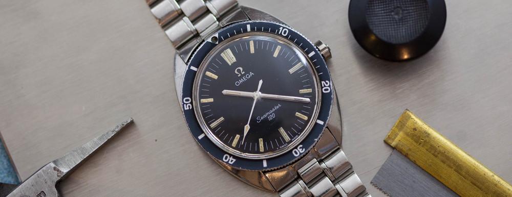 The Omega Seamaster 120. Image courtesy of ThoseWatchGuys