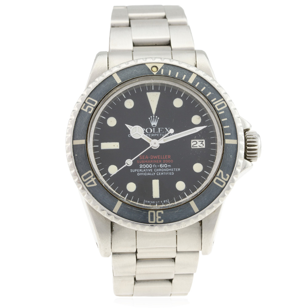 Lot 370 - Rolex 'Double red' Sea-Dweller' - UNSOLD