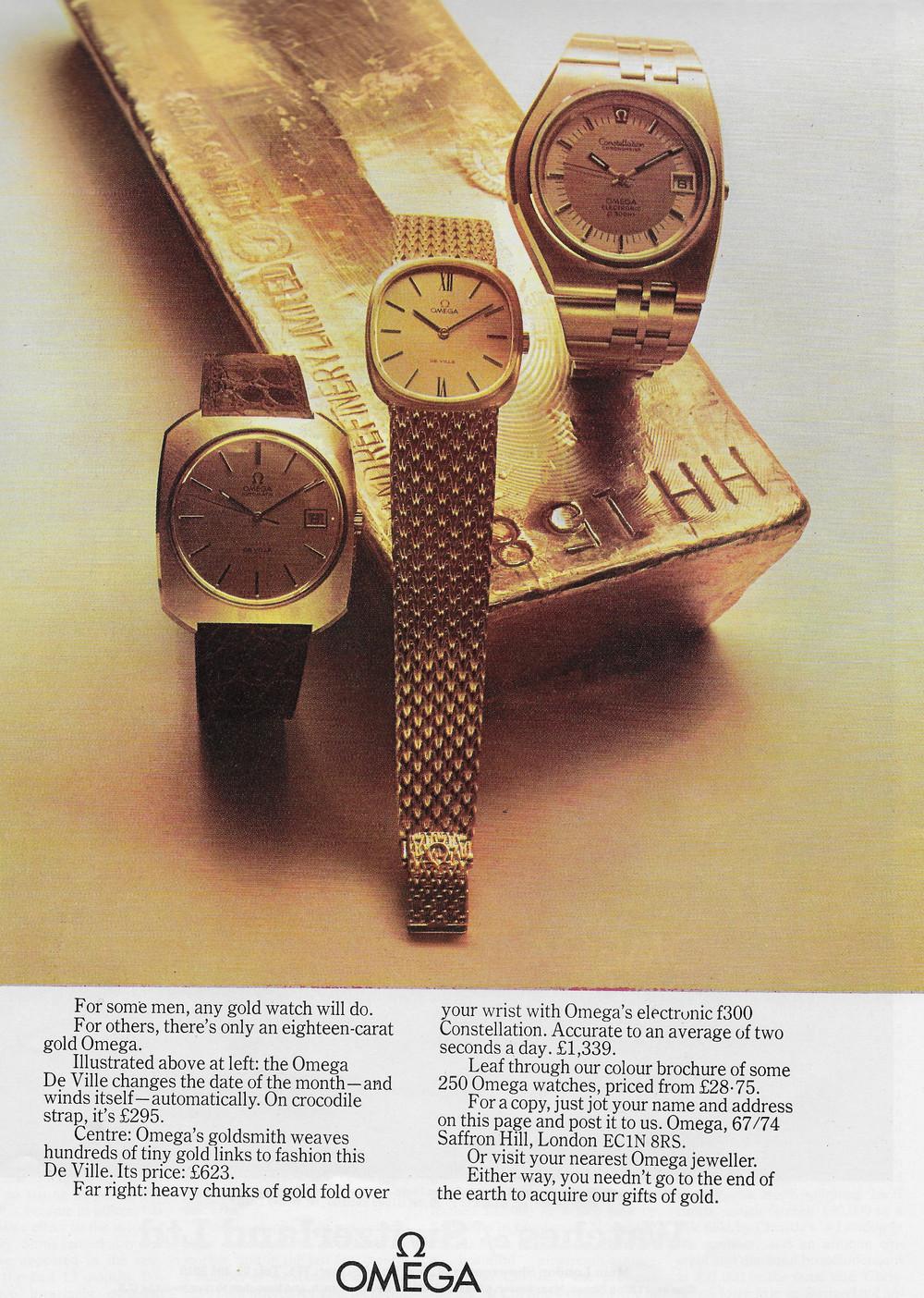 Vintage Omega Advert 1973 2.JPG