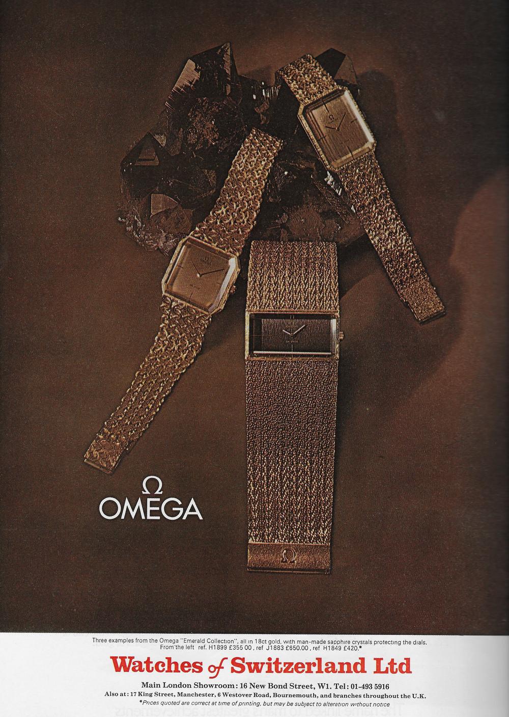 Vintage Omega Advert 1973 1.JPG
