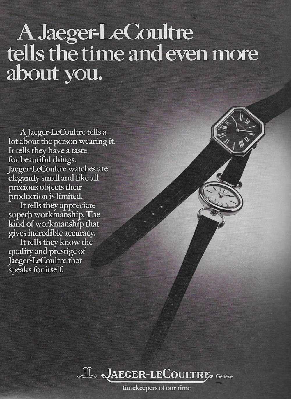 Vintage Jaeger-LeCoultre Advert 1973 .JPG