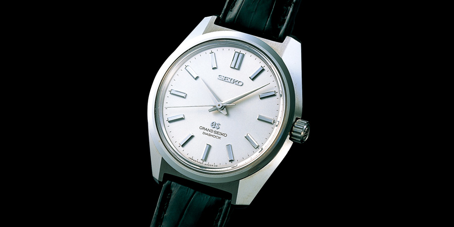 The Grand Seiko Ref. 44GS that serves as the design basis for the Hi-Beat Limited Edition.