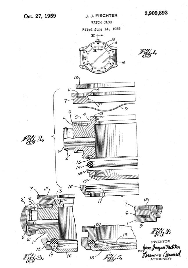 Fietcher's patent for his alternative caseback design.