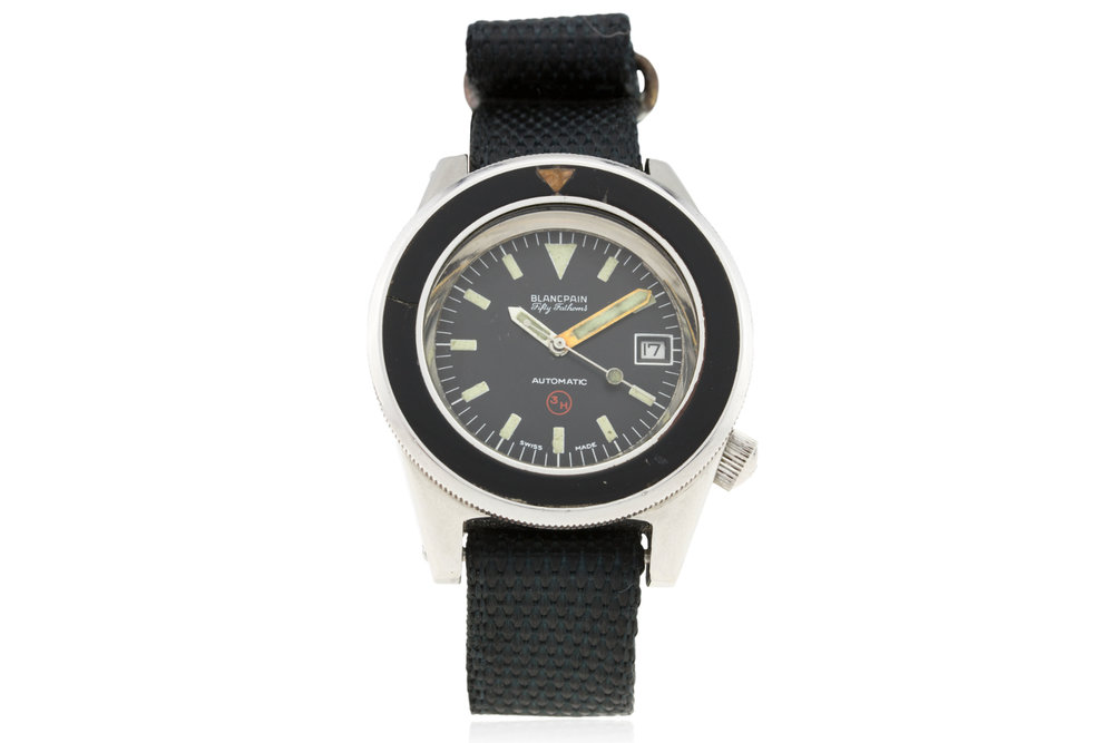 The Fifty Fathoms issued to the West German Bundeswehr KAMPFSCHWIMMERs. Photo courtesy of watches of knightsbridge.
