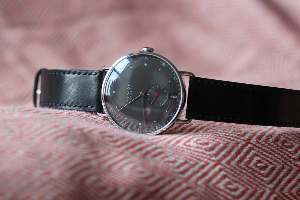 the nomos metro 38 datum is fitted with an in-house movement made in glashutte.