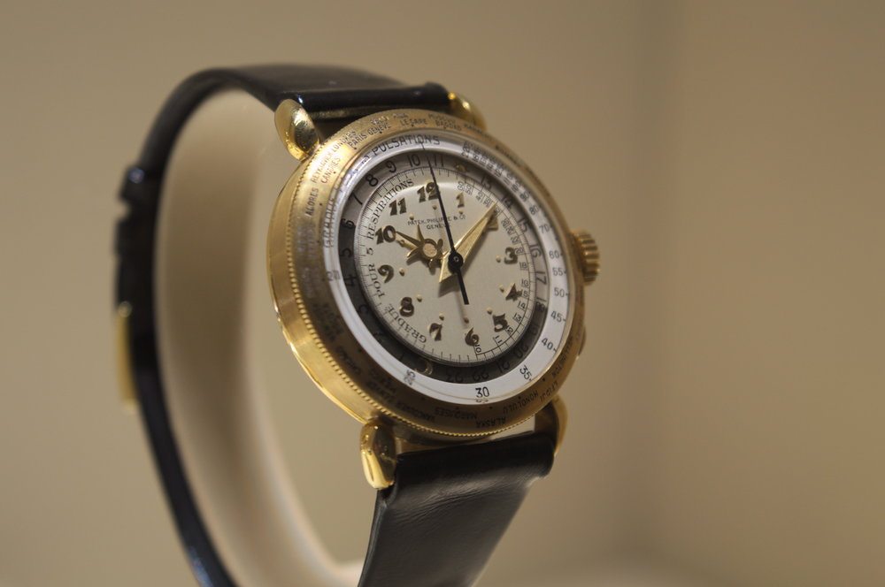The Patek Philippe Ref. 1415-HU. this one of a kind piece was made for a special client in 1940.