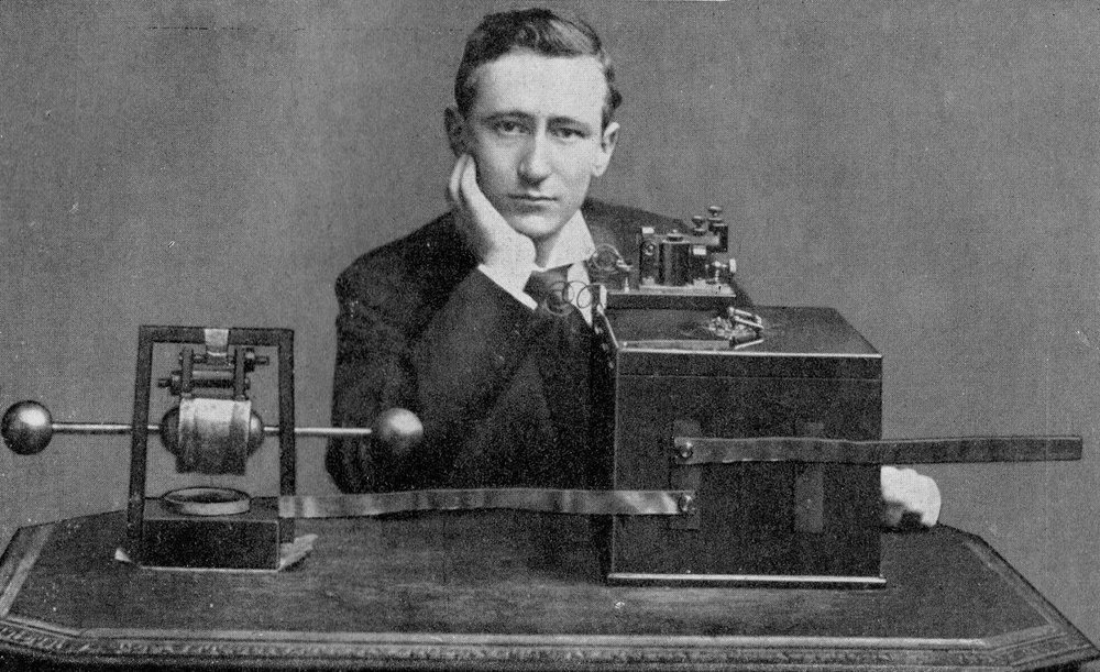 Guglielmo Marconi won the 1909 Psychics Nobel Prize for his work with radio communication.