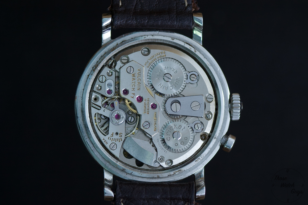 The Vulcain Caliber 120 as seen on the original Vulcain Cricket. Photo courtesy of Those Watch Guys.