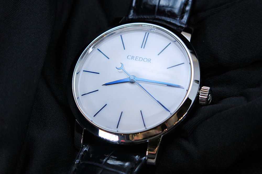 The Seiko Credor Eichi II with porcelain dial. Photo courtesy of Watchesbysjx.com