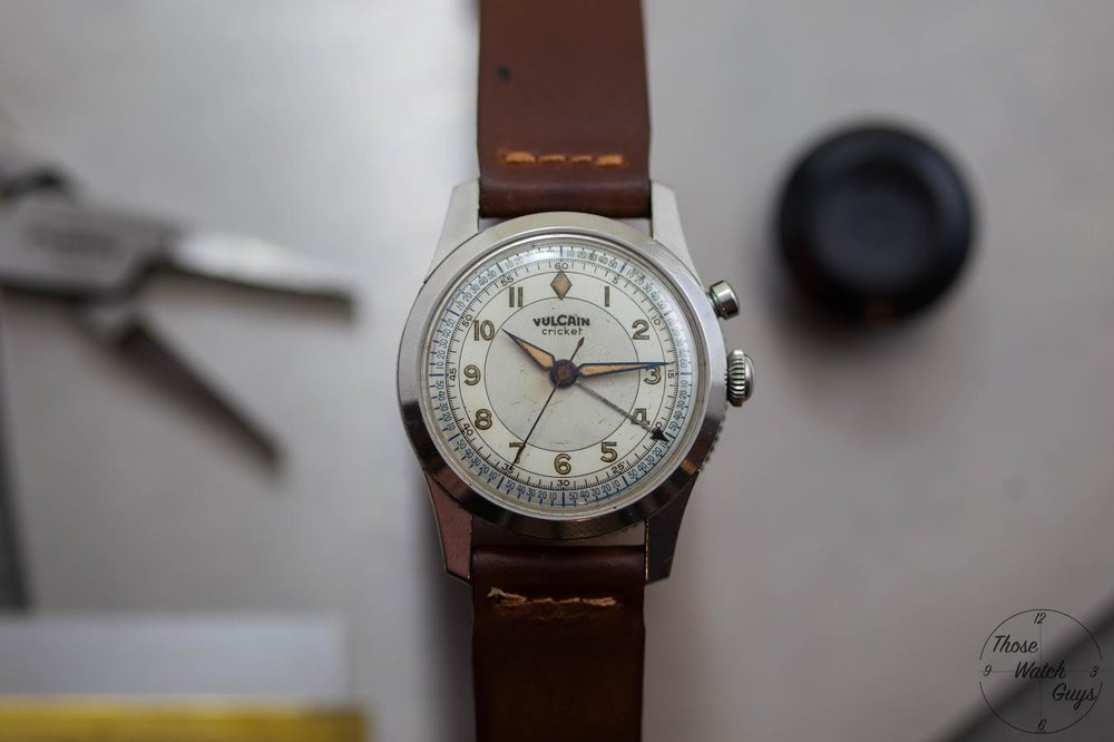 An early Vulcain Cricket. Photo courtesy of Those Watch Guys.