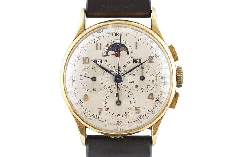 Universal Geneve Tri-Compax Ref. 12283. Photo courtesy of Waddington's Auction House.