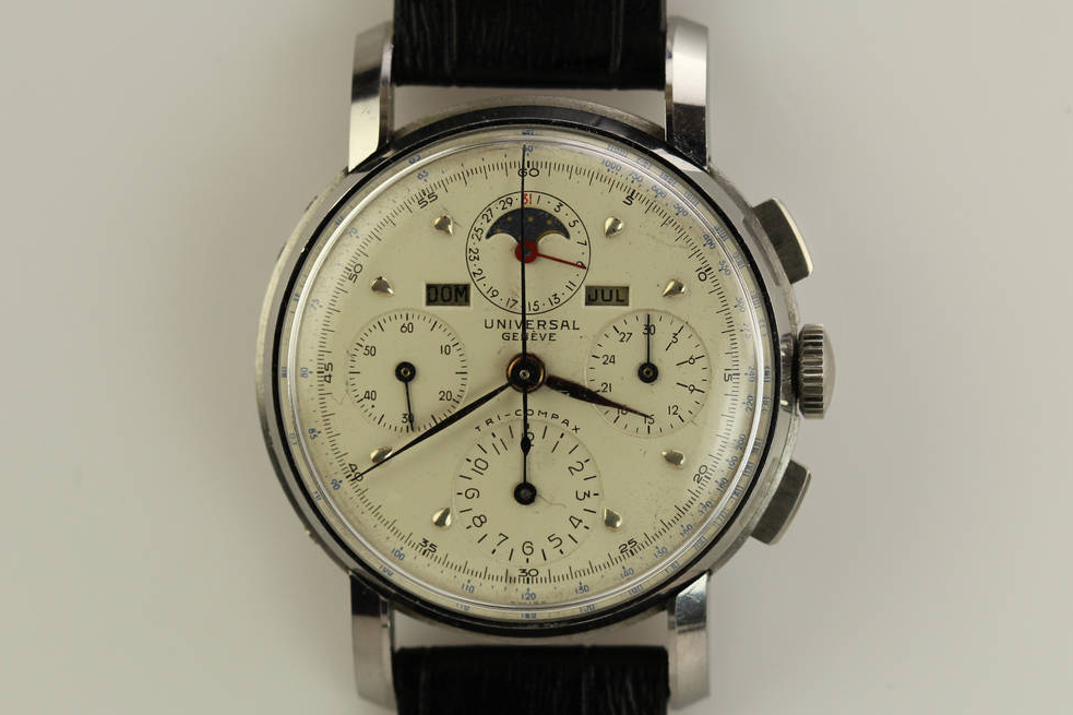 Universal Geneve Tri-Compax Ref. 22541. Photo courtesy of 1st Dibs.