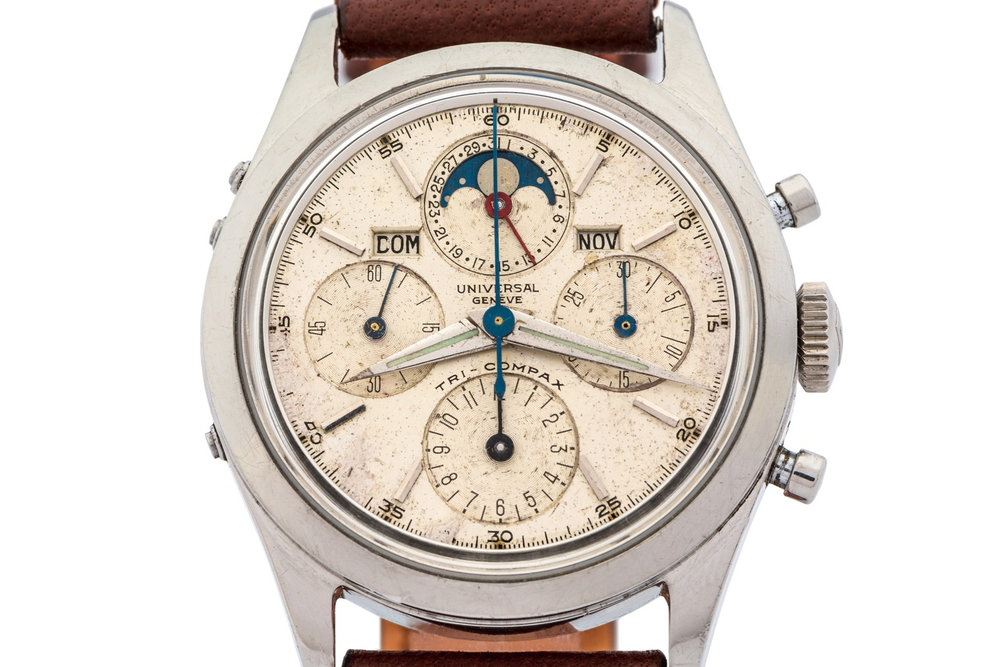 Universal Geneve Tri-Compax Ref. 22297/3. Photo courtesy of Antiquorum.