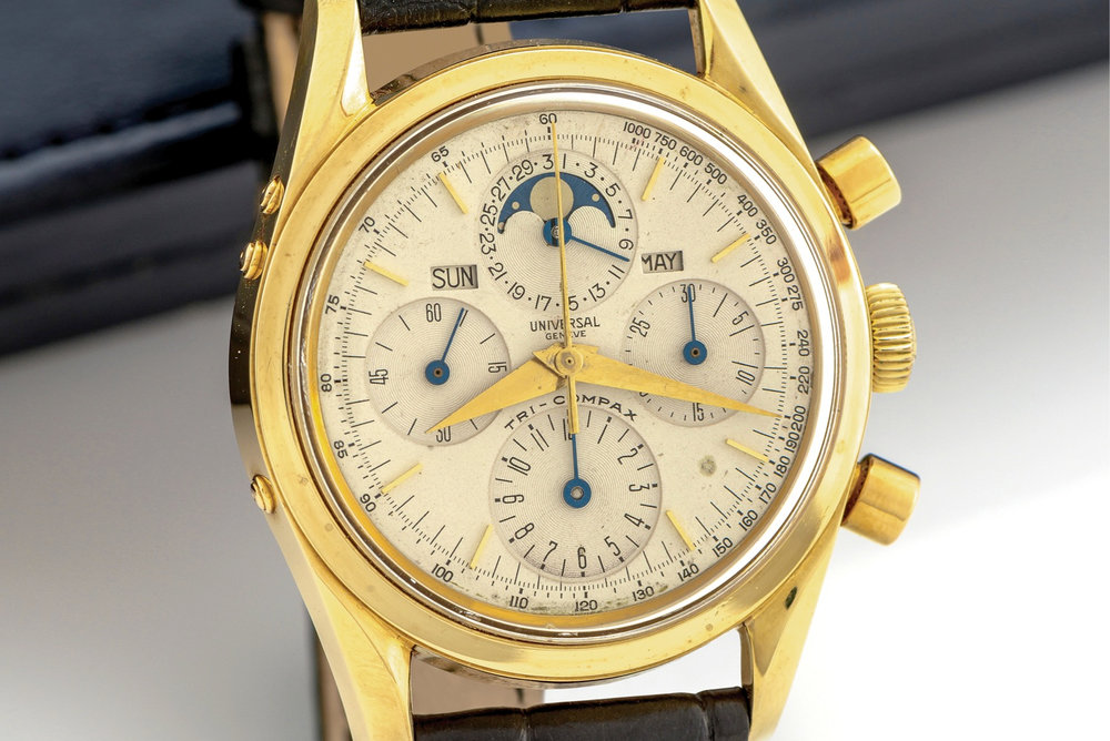 Universal Geneve Tri-Compax Ref. 481101/03. Photo courtesy of Antiquorum