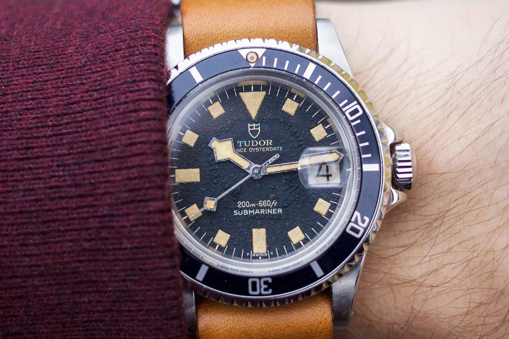 Tudor Submariner Ref. 9410/0, the civilian model of the Ref. 7016. Photo courtesy of Those Watch Guys.