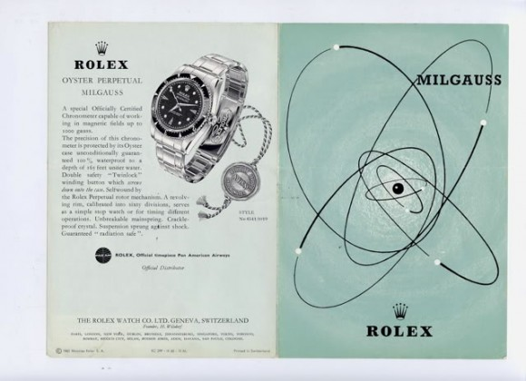 Rolex Milgauss advertisement