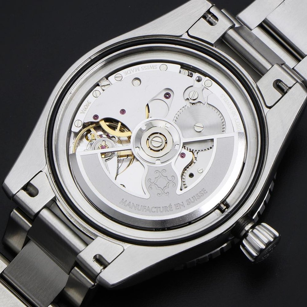 The Eterna Caliber 3939A used on Oceanking. Photo courtesy of Monta Watches.