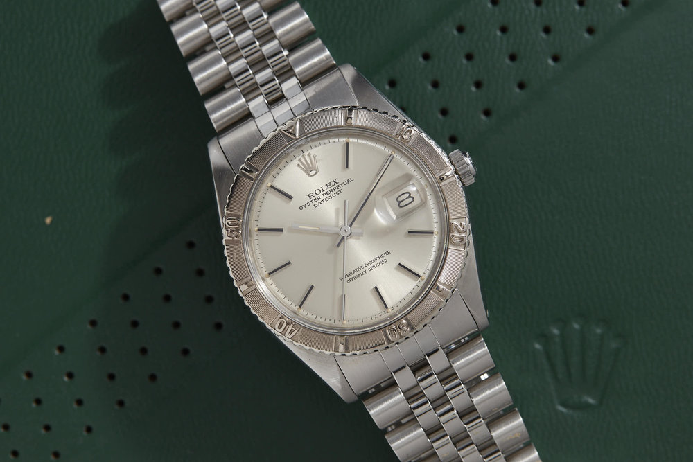 Rolex Turn-o-graph Ref. 1625 with white gold bezel. Photo courtesy of analog/shift