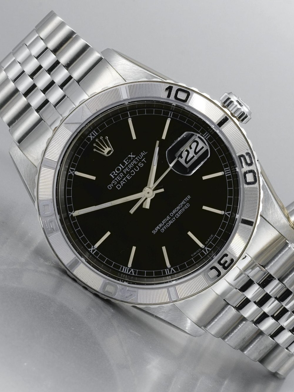 Rolex Datejust Turn-o-graph Ref. 16264 with black dial