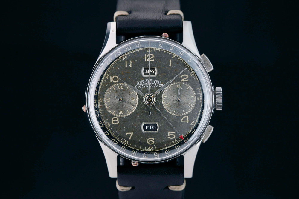 The Angelus Chronodato. Photo courtesy of analog/shift.