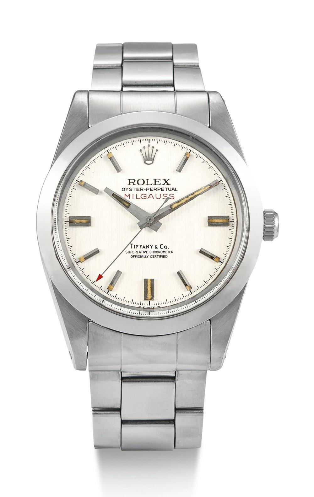 Rolex Milgauss Ref. 6019 retailed at Tiffany & Co, circa 1969