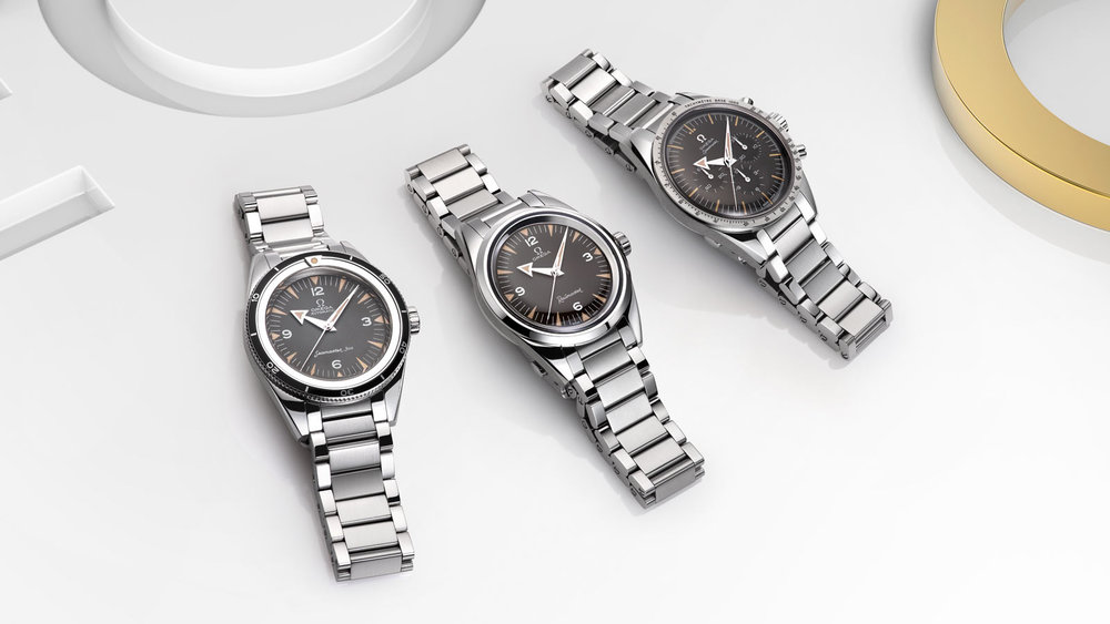 The Omega 1957 Trilogy released in Baselworld. Photo courtesy of Omega