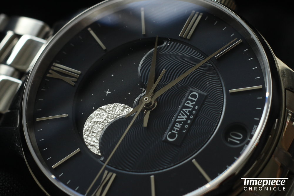 Christopher Ward C8 Moonphase with textured moon