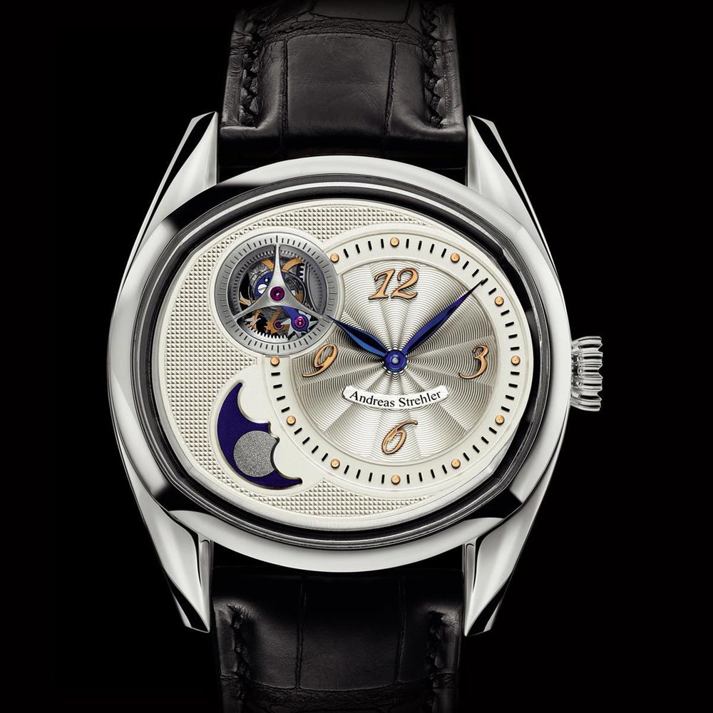 The Andreas Strehler Sauterelle a lune Perpétuelle. Photo courtesy of Andreas Strehler