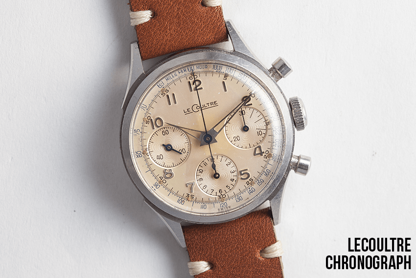 A stunning LeCoultre chronograph, available now at Theo&Harris.com